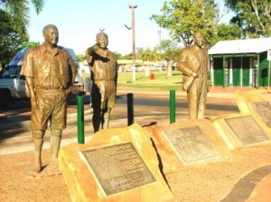 A memorial to Japanese luggers (pearl divers) in Broome, Western Australia