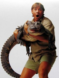 Crikey! It's the late Steve Irwin and friend
