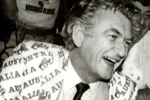 Former Australian Prime Minister Bob Hawke in 1983.