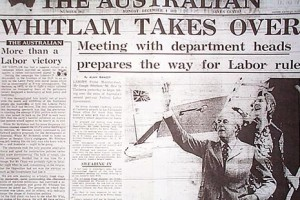 Whitlam's November 1972 election win raised massive expectations of reform, but ended in disgrace with his dismissal at the hands of the (unelected) governor-general in November 1975.