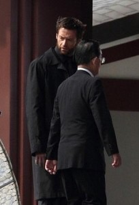 """Hugh Jackman while in Japan recently to film the latest installment of the """"Wolverine"""" series of movies."""