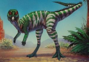 An artist's rendition of a Qantassaurus, Australia's dinosaur named after an airline
