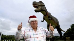 Clive Palmer and Jeff the T-Rex
