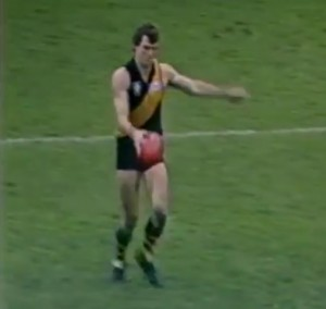 The late Phillip Walsh as a Richmond Tigers player in the 1980s